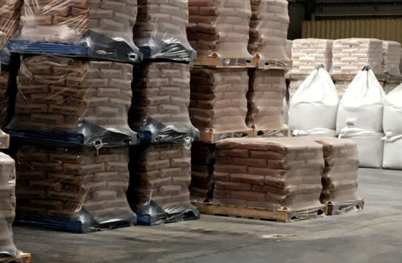 pallets of sand bags